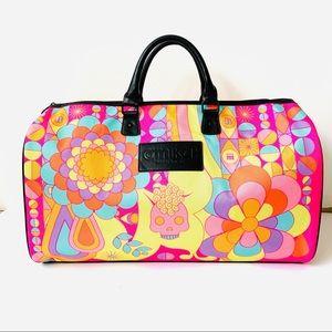 Amika Vibrant Neon Duffle Psychedelic Print Bag